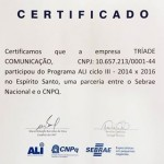 Certificado ALI Tríade