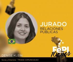 Denise Klein, sócia da Tríade Comunicação, é jurada em festival internacional